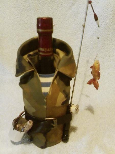 Оформление бутылки для мужчины