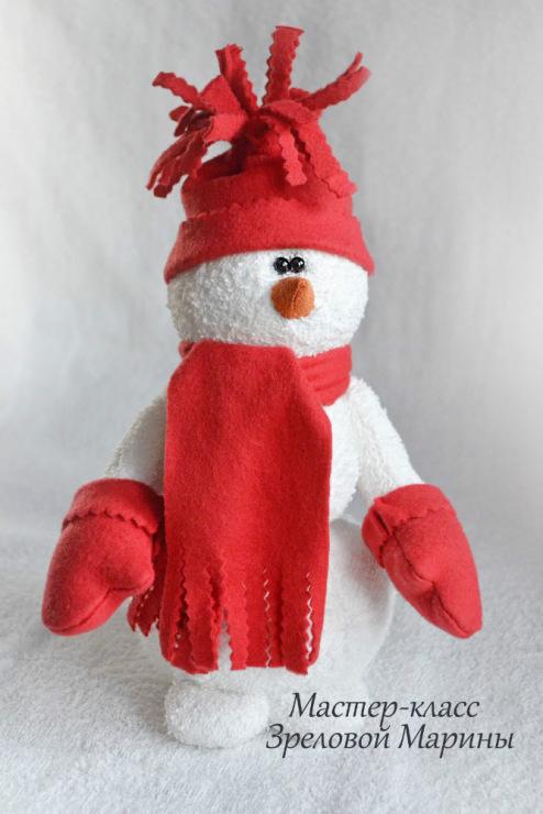 Снеговик сшить из ткани мастер класс - Cvety-iren.ru