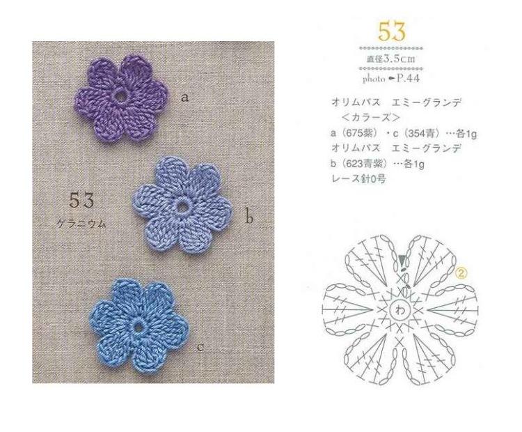 Как вязать цветы крючком с и со схемами