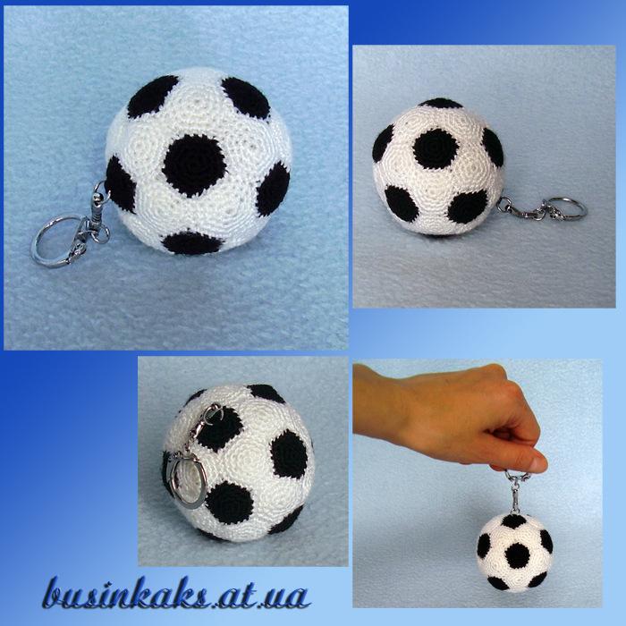 Связать мяч крючком схема