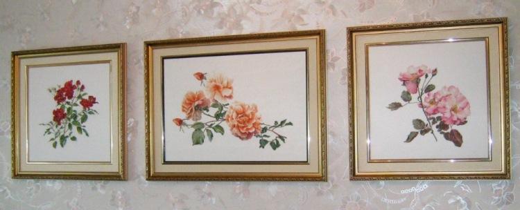 Вышивка триптих фото готовых работ