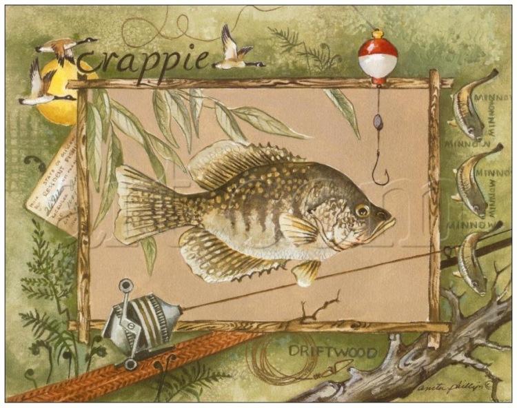 винтажные картинки о рыбалке