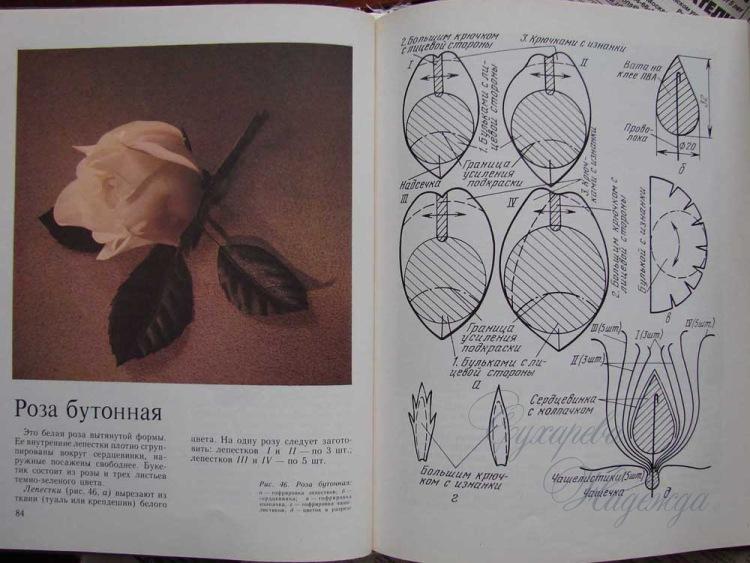 Выкройка цветка из кожи фото
