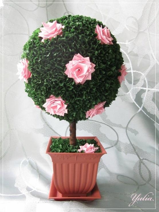 Сделать дерево из цветов своими руками