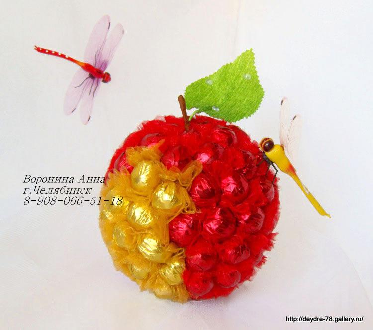 Малина из конфет своими руками мастер класс