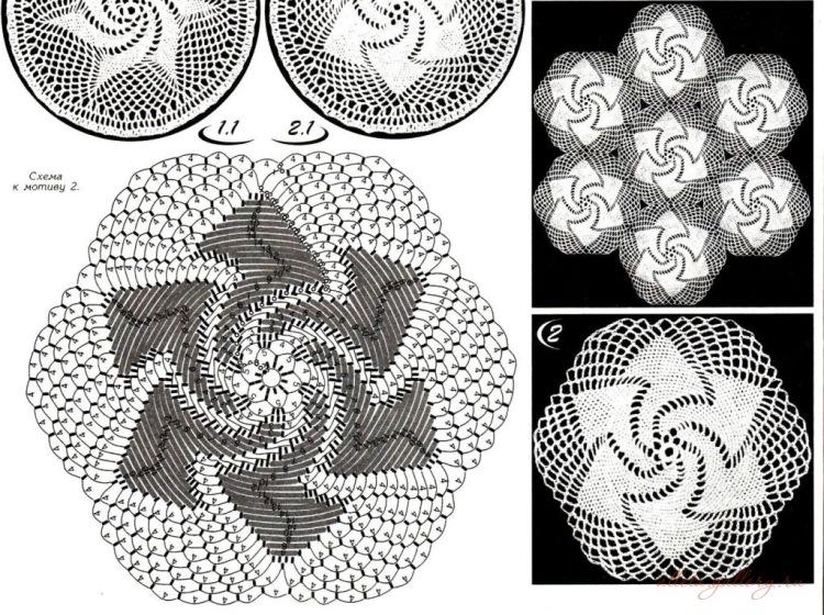 Вязание крючком спиральных мотивов 20