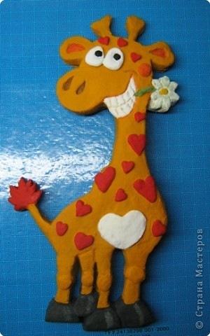 Жираф из солёного теста