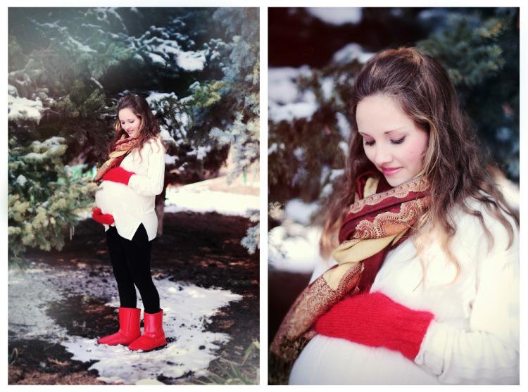 Зимняя фотосессия беременной с мужем фото 36