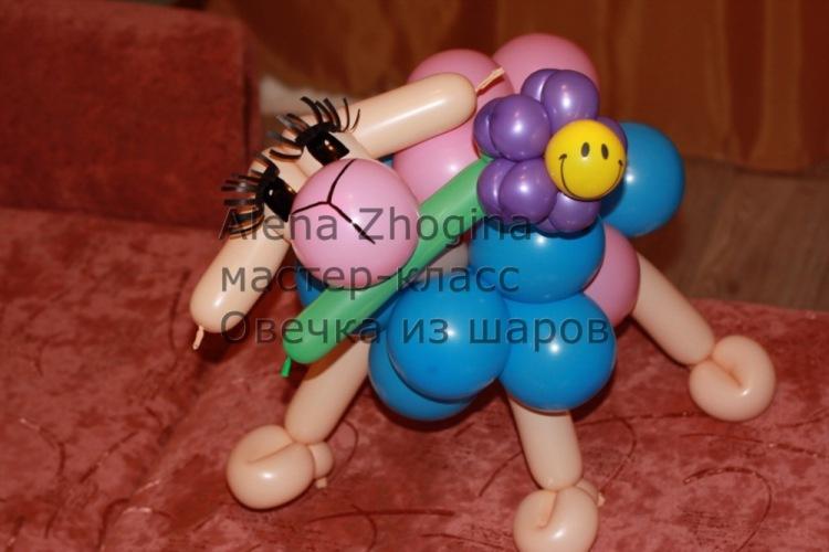 Как сделать барашка из шарика