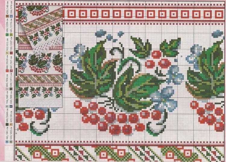 Схема вышивки калина-дуб. - Животные - Каталог статей - Оригинальная ... f836700f6d19b