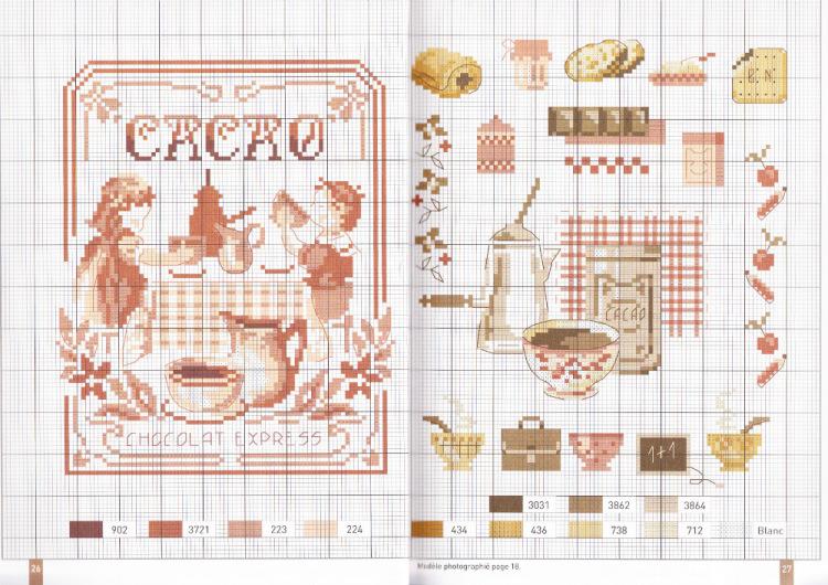 Схемы вышивки для салфеток с кофе