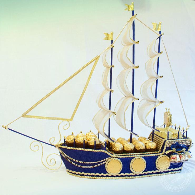 Как сделать паруса на корабль с конфет