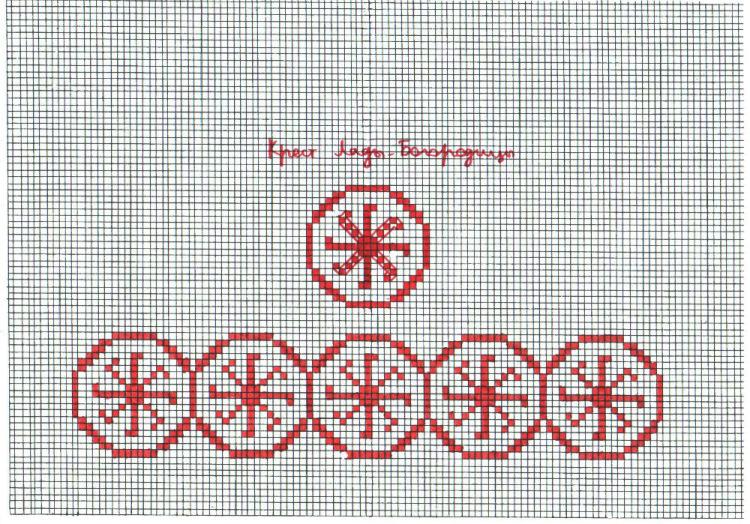 Символы и приметы в вышивке крестом - Мегавышивка 65