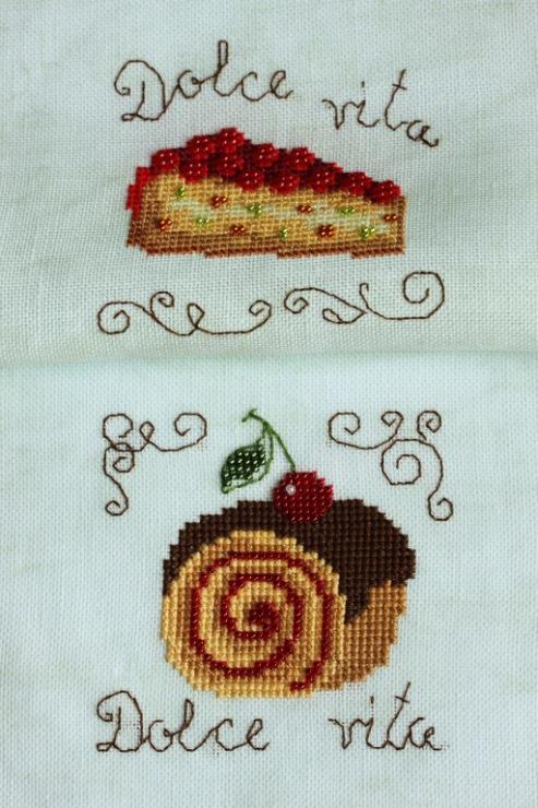 Вышивка пирожные риолис 20