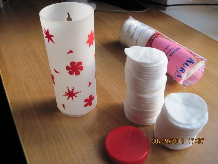 Подставка для ватных палочек и дисков своими руками