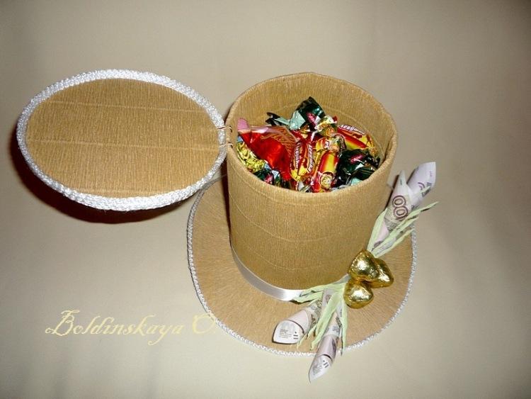 Шляпка своими руками с конфетами мастер класс